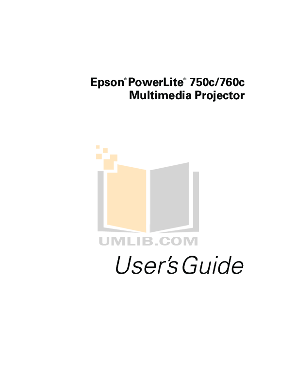 pdf for Epson Projector PowerLite 750c manual