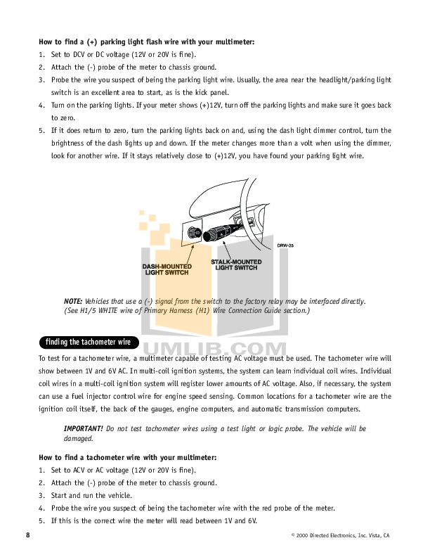 Pdf Manual For Dei Other Avital 3100 Car Alarms