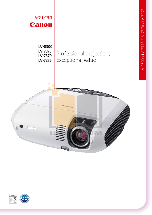 pdf for Canon Projector LV-7275 manual