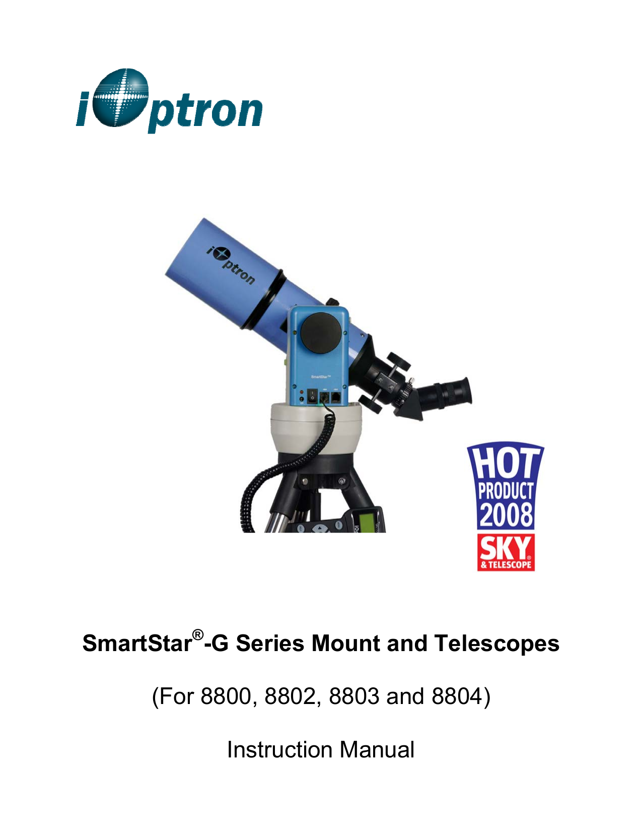 pdf for Ioptron Telescope SmartStar G-N114 manual