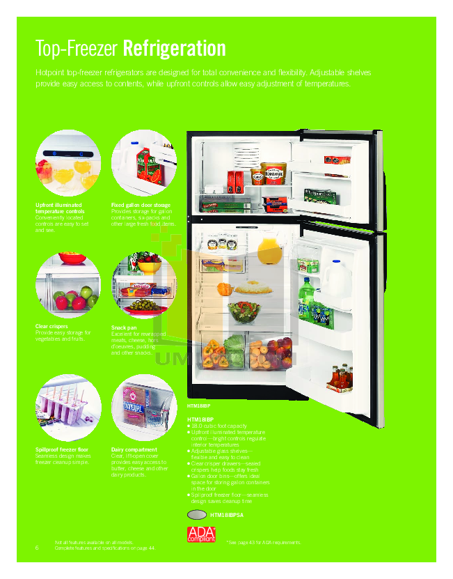 Hotpoint Range RGB524PEHCT pdf page preview