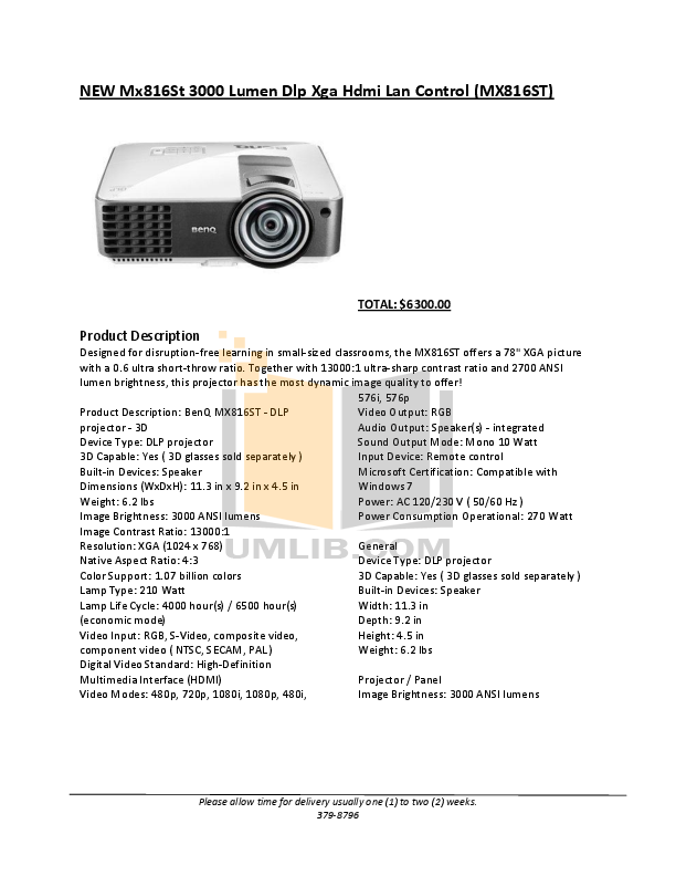 pdf for Epson Projector EX5200 manual
