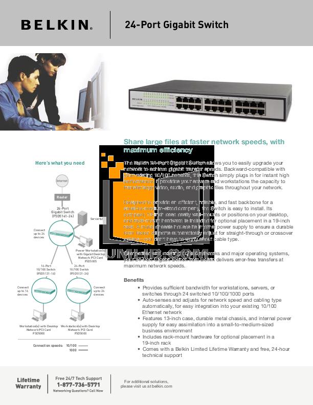 pdf for Belkin Router F5D5005 manual