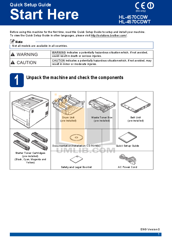 pdf for Brother Printer HL-4570CDW manual
