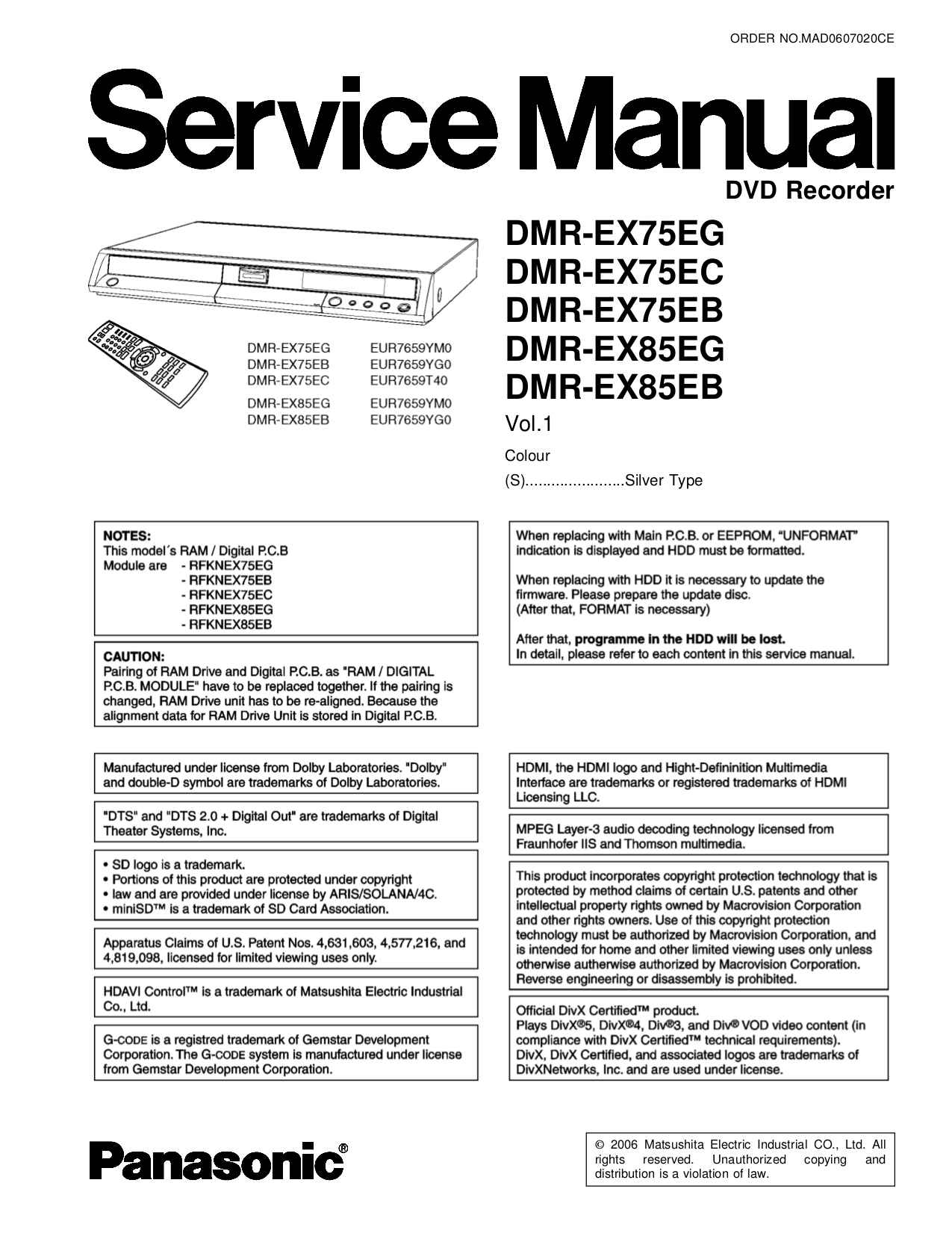 download free pdf for panasonic diga dmr eh55 dvd players manual rh umlib com Customer Service Books Service Station