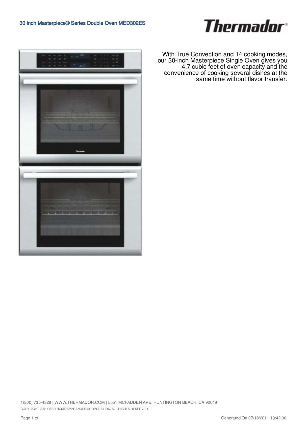 download free pdf for thermador med302es oven manual rh umlib com thermador professional oven manual thermador oven manual ct230