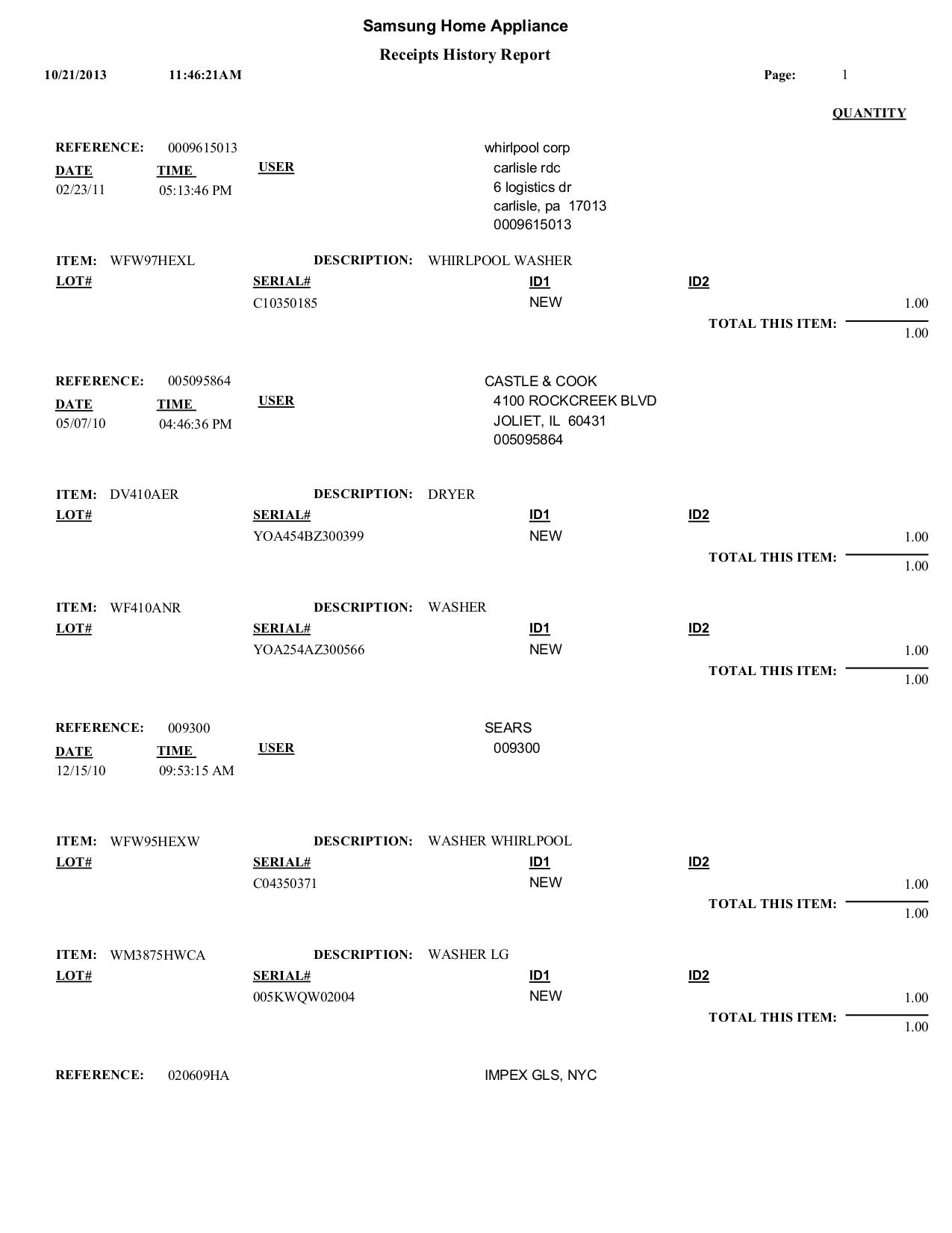 pdf for Samsung Refrigerator RF197ABPN manual