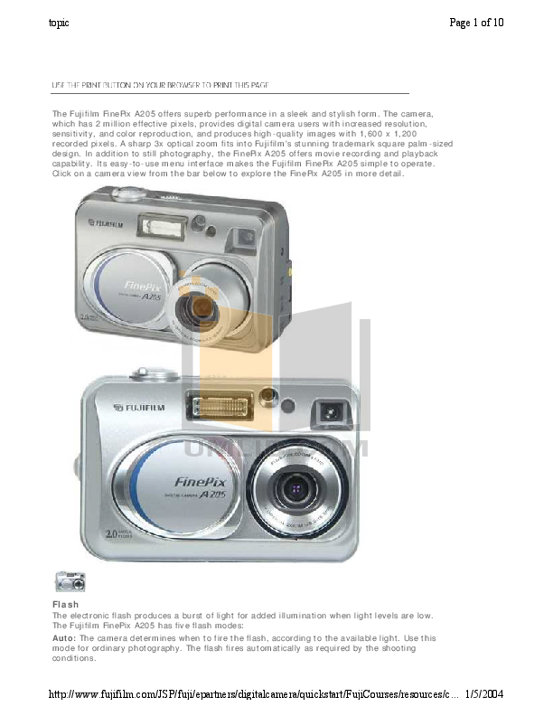 download free pdf for fujifilm finepix a205 digital camera manual rh umlib com Fujifilm FinePix A-Series Fujifilm FinePix Digital Camera