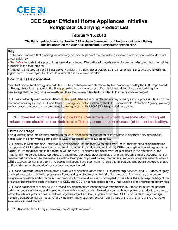 pdf for Frigidaire Refrigerator Gallery FGHS2355K manual