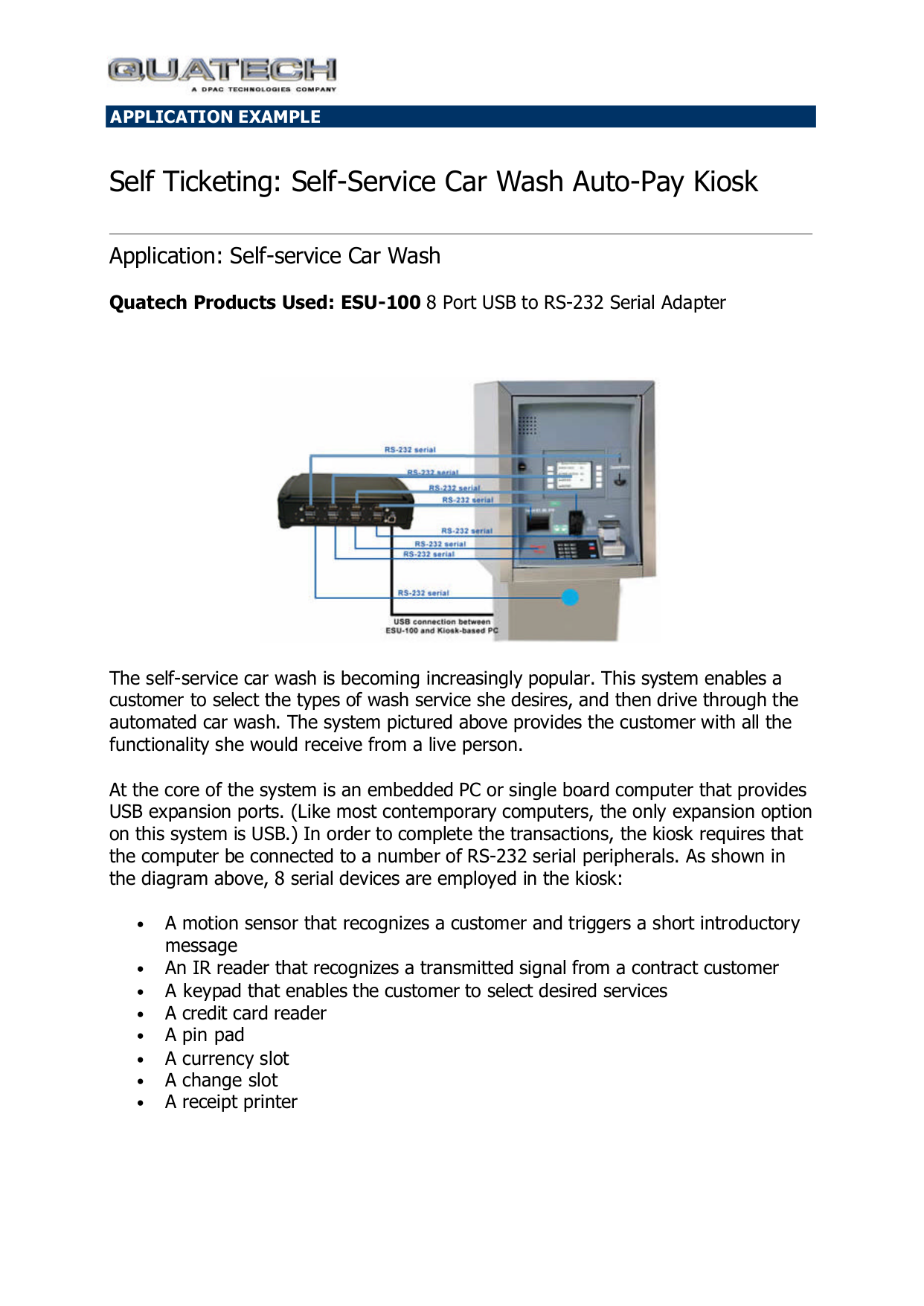 pdf for Quatech Other ESU-100 Adapters manual