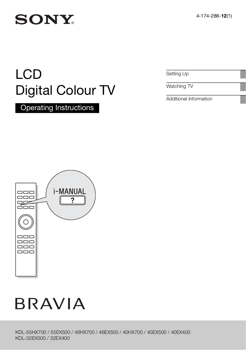 download free pdf for sony bravia kdl 32ex500 tv manual rh umlib com