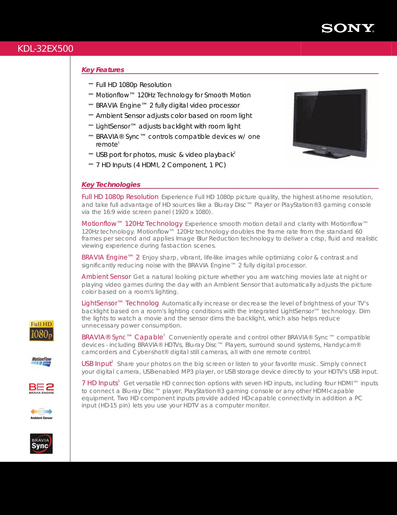 download free pdf for sony bravia kdl 32ex500 tv manual rh umlib com Sony KDL 32EX500 Manual Sony KDL 32EX500 Manual