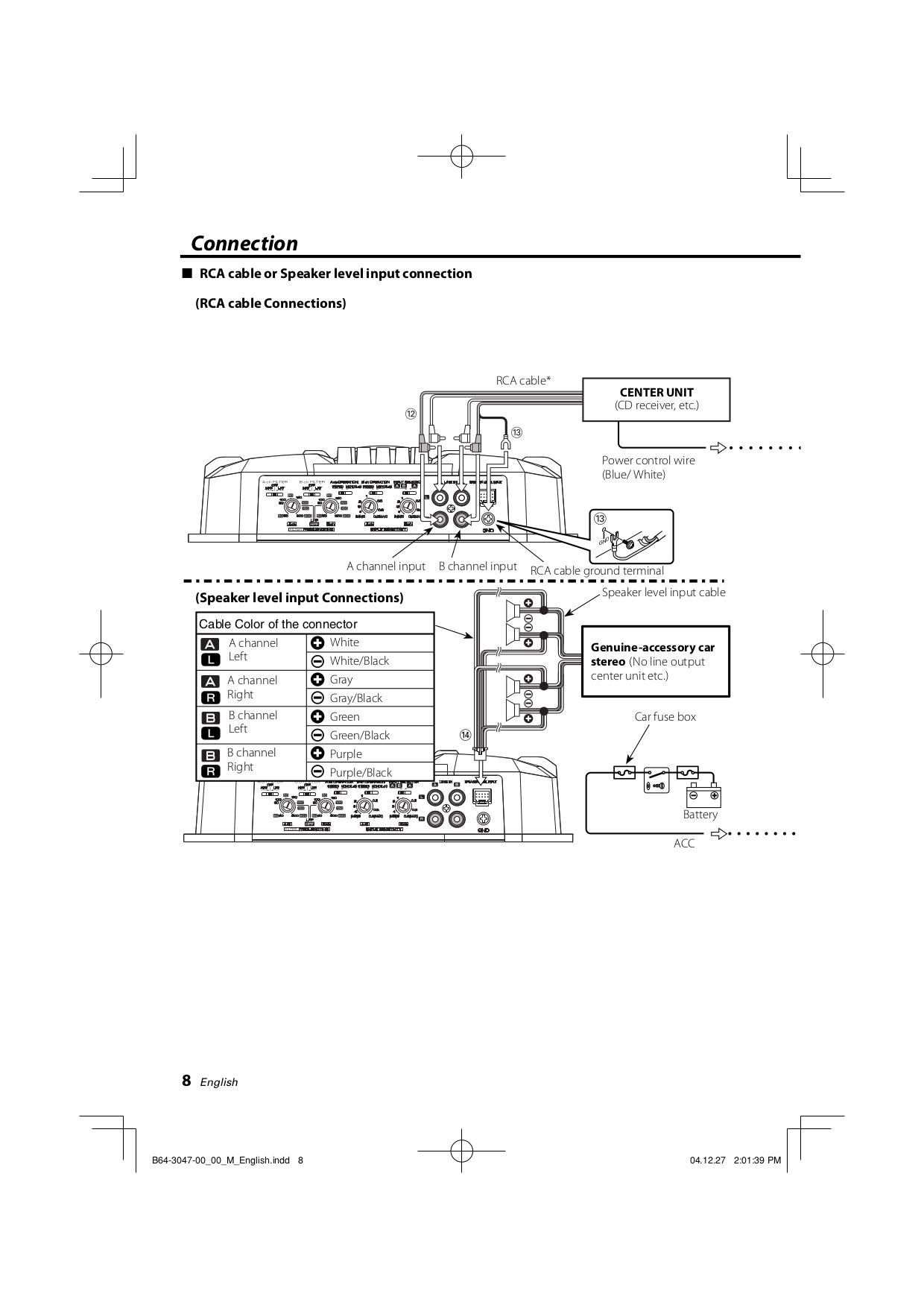 pdf manual for kenwood car amplifier kac 6402 rh umlib com Kenwood Amp Kac Gain Kenwood Amplifier 301T