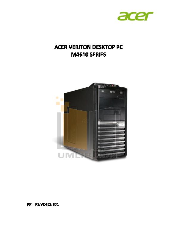 pdf for Acer Desktop Veriton M4618G manual