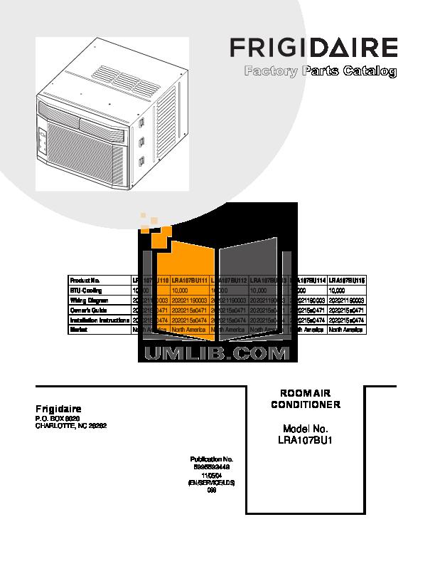 download free pdf for frigidaire lra107bu1 air conditioner manual rh umlib com Frigidaire Parts Frigidaire Gas Range Manual