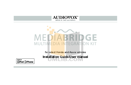 pdf for Audiovox Car Receiver ACC-60 manual