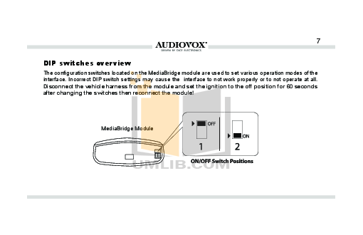 Audiovox Car Receiver ACC-60 pdf page preview