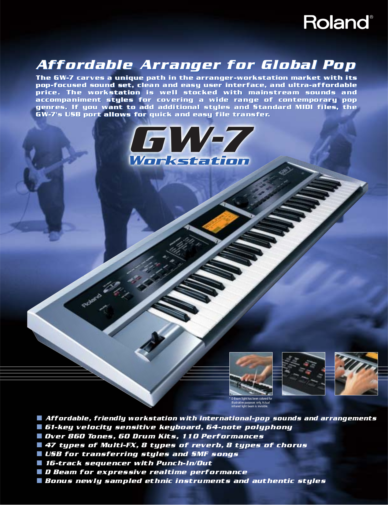 Download free pdf for Roland GW-7 Music Keyboard manual