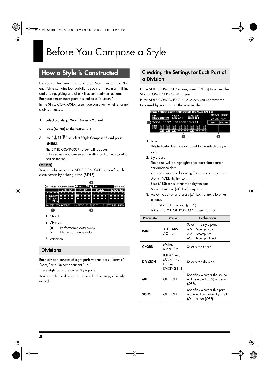 PDF manual for Roland Music Keyboard GW-7