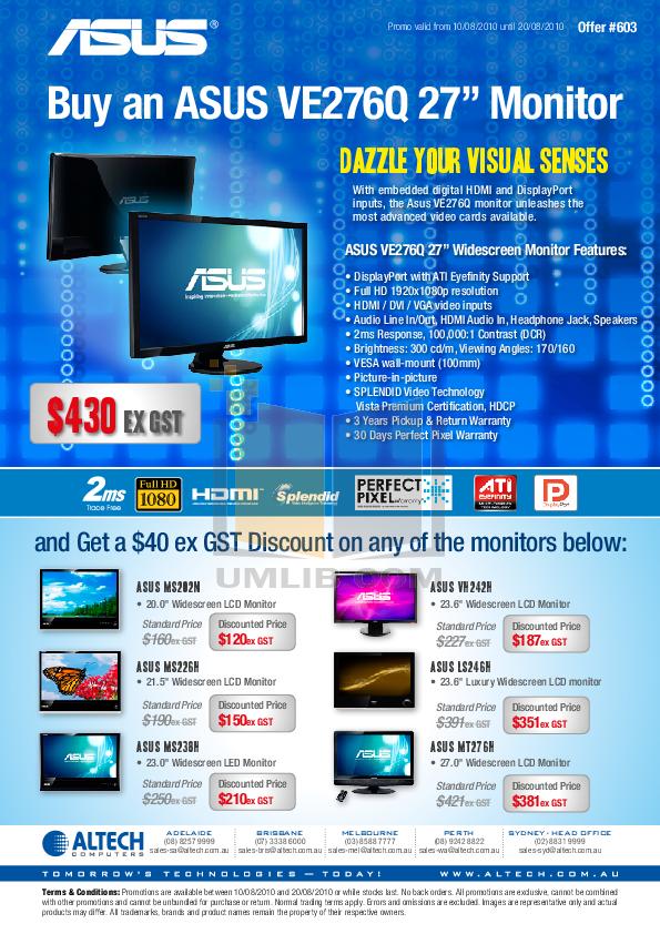 pdf for Asus Monitor MS202N manual