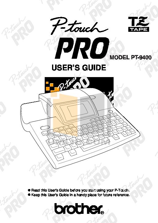 pdf for Brother Printer PT-2460 manual