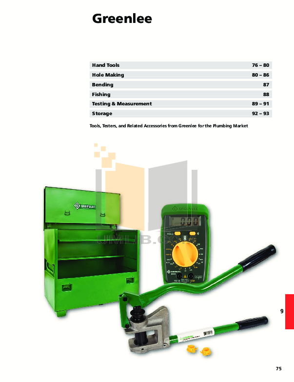 pdf for Greenlee Heater 860-4 manual