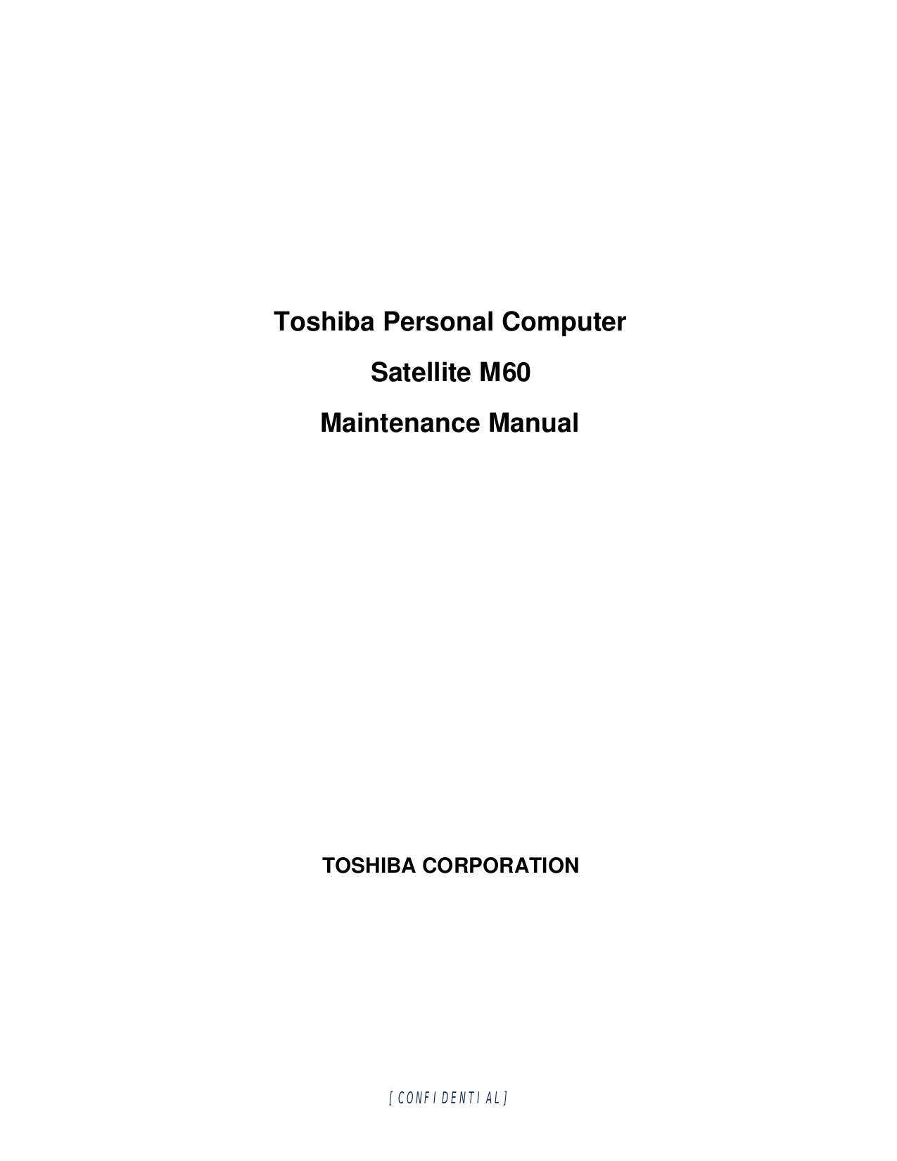 Toshiba Laptop Satellite M60-139 pdf page preview