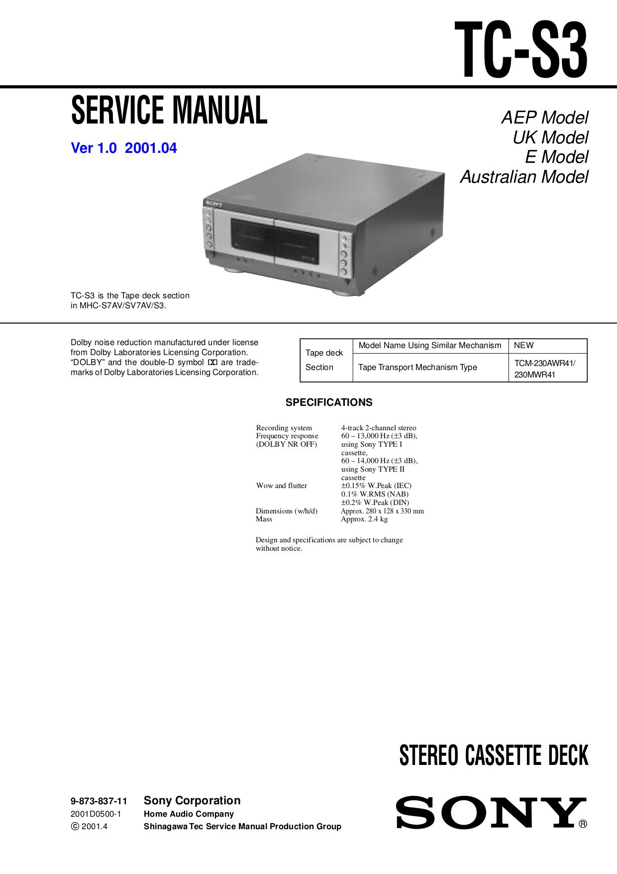 Инструкцию К Sony Mhc-S3