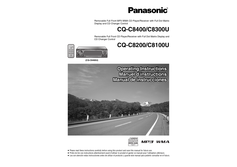 pdf for Panasonic Car Receiver CQ-C8400U manual