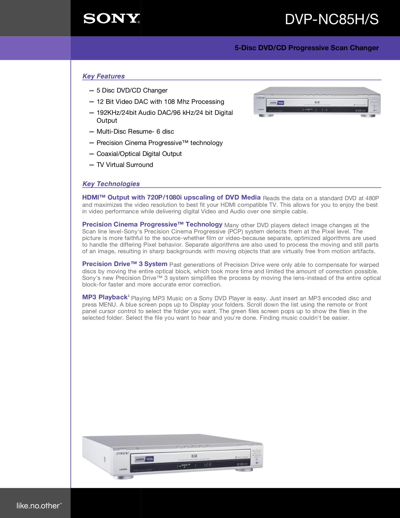 download free pdf for sony dvp nc85h dvd players manual rh umlib com sony dvp nc85h service manual Sony CD Player Silver Small