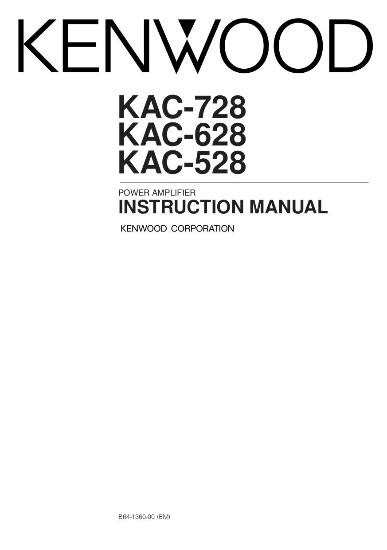 Download free pdf for Kenwood KAC628 Car Amplifier manual – Kenwood Wiring Diagram Pdf