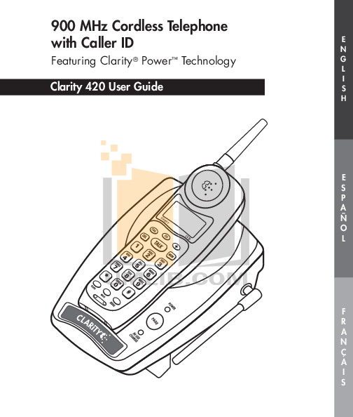 pdf for Clarity Telephone C420 manual