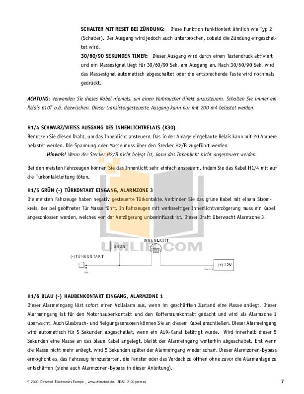 pdf manual for dei other viper 800esp car alarms rh umlib com ESP Bass viper 800 esp install manual