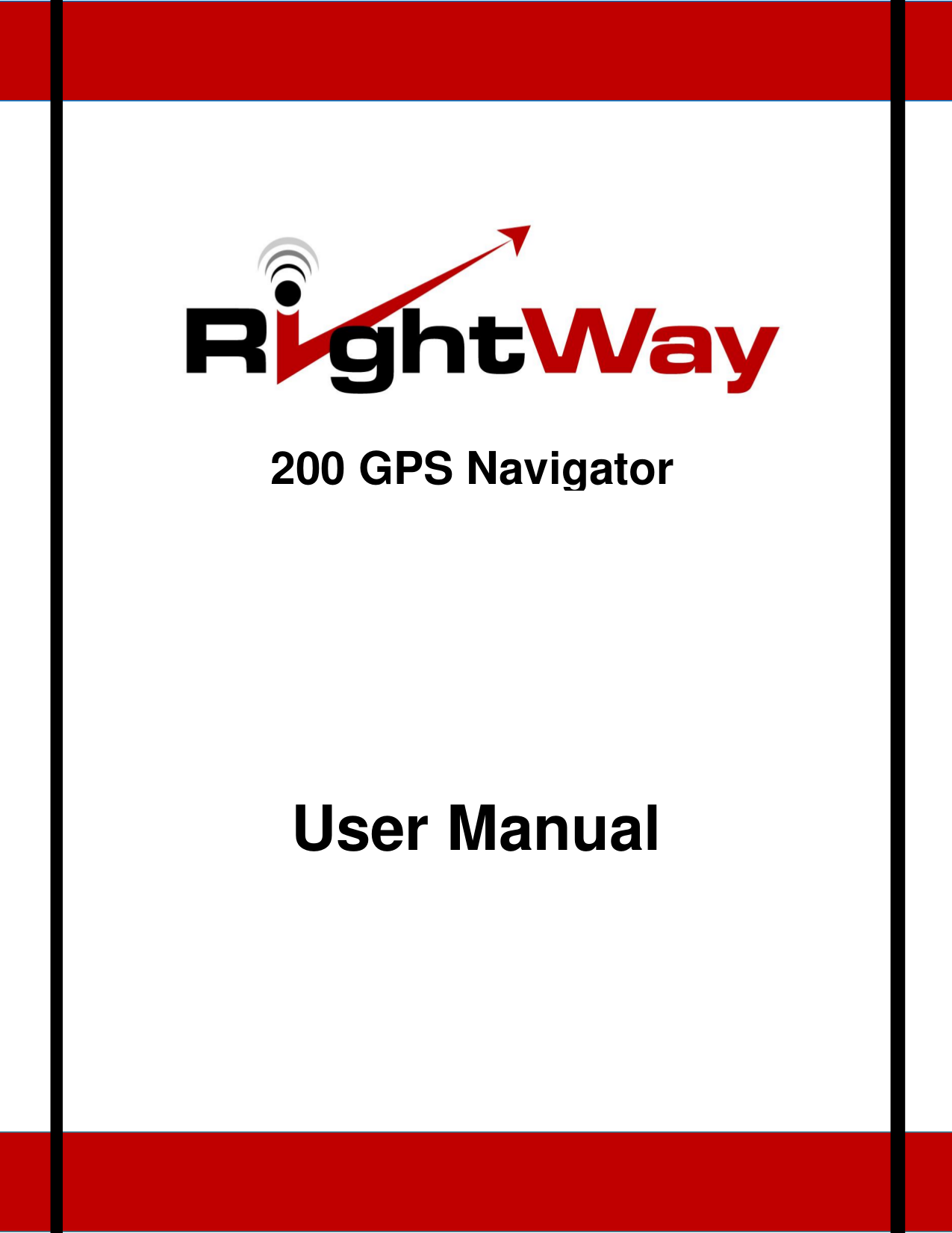 pdf for RightWay GPS RW200 manual