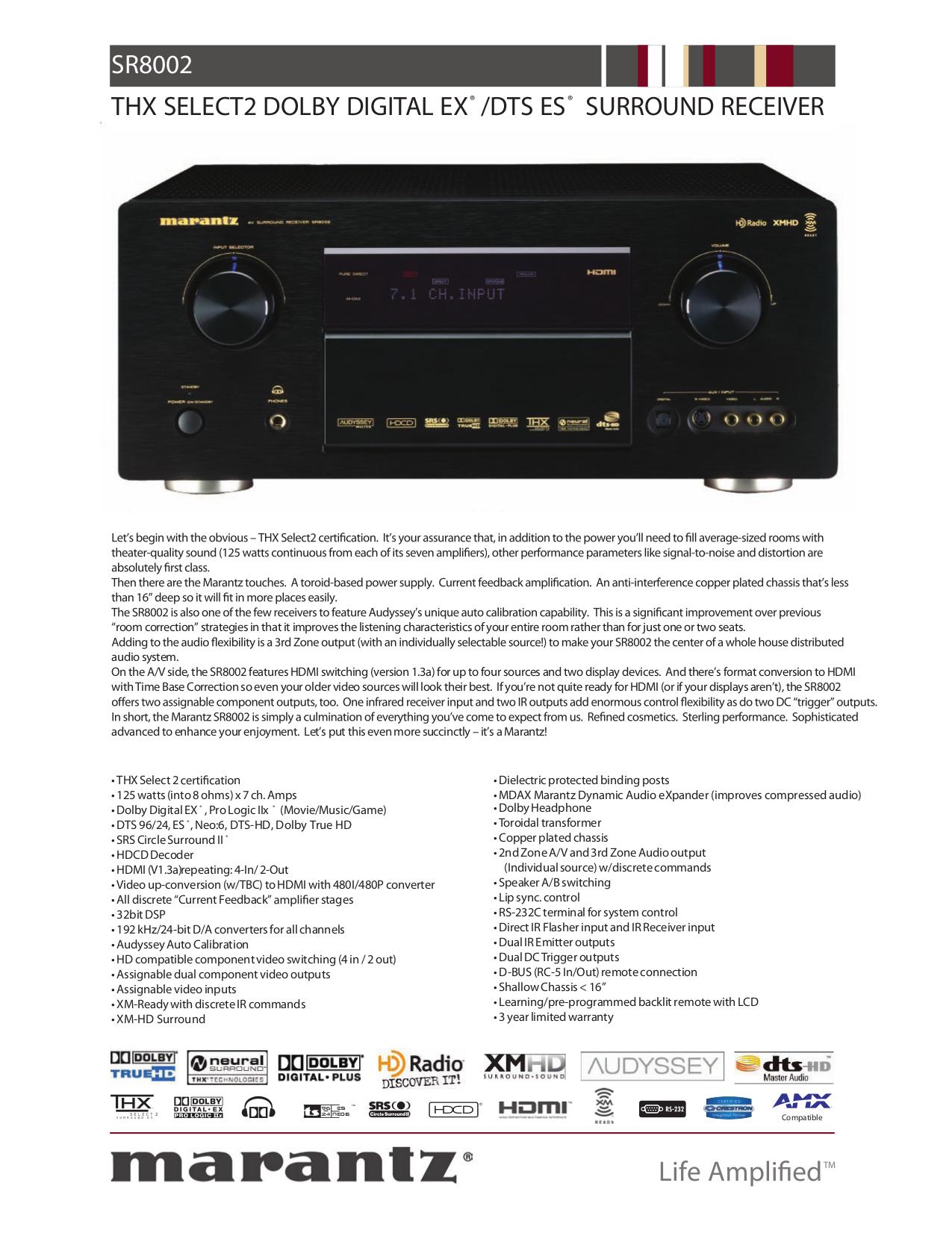 download free pdf for marantz sr8001 receiver manual rh umlib com Marantz SR8001 Receiver Marantz SR8001 Receiver