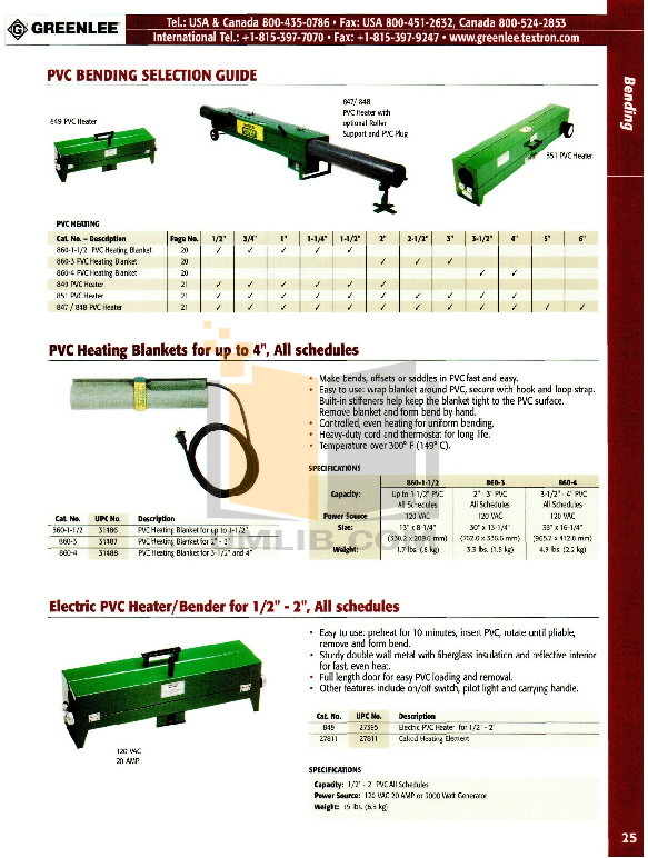 pdf for Greenlee Heater 848 manual