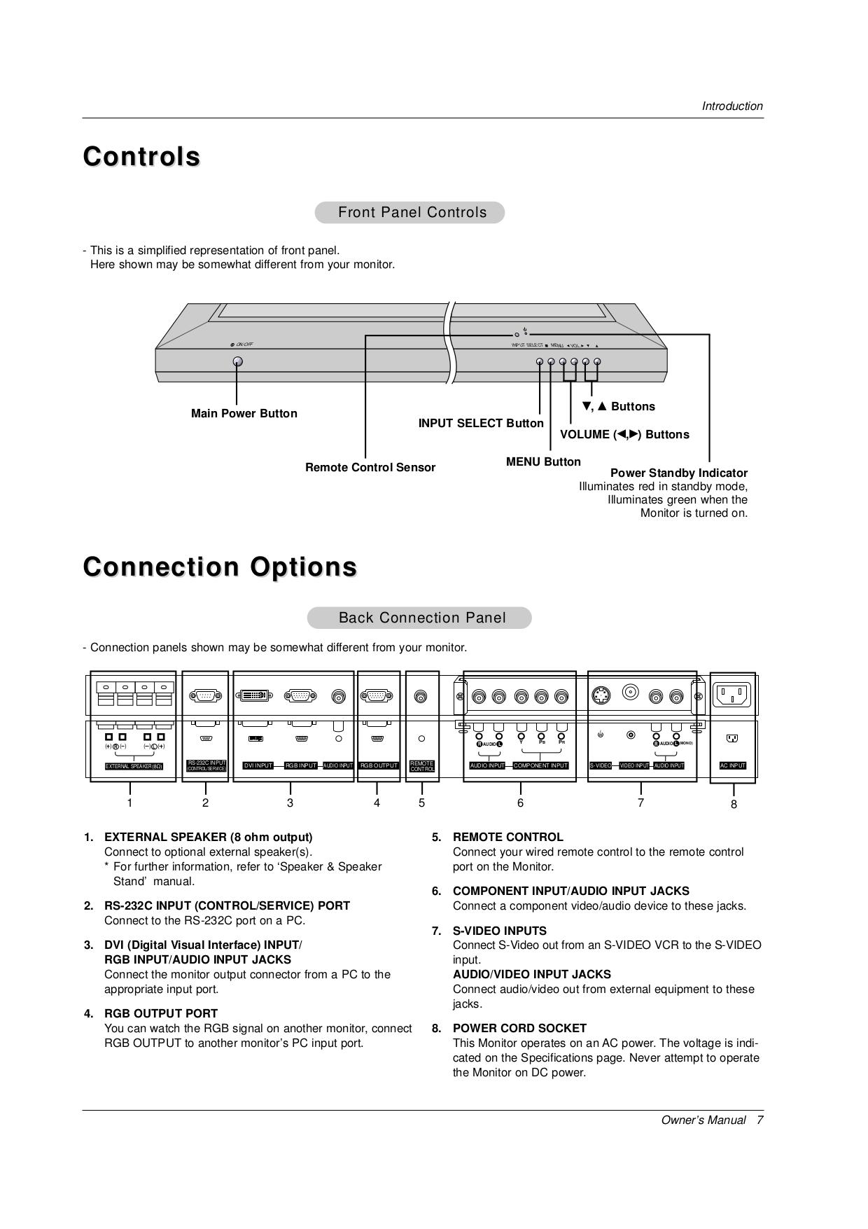 LG Monitor MU-50PZ44M pdf page preview