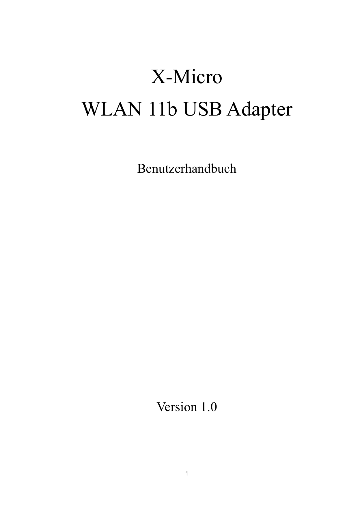pdf for X-Micro Other XWL-11BUZX Adapters manual