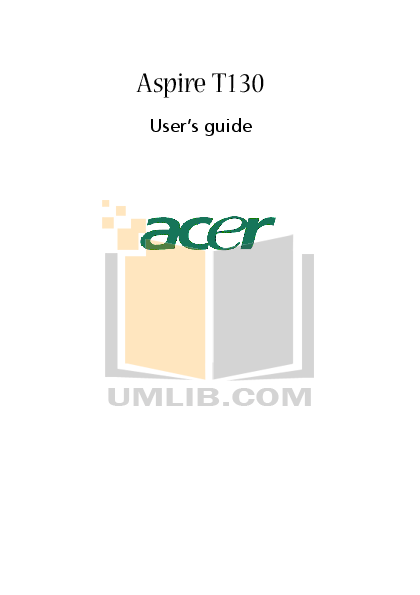 pdf for Acer Desktop Aspire T130 manual