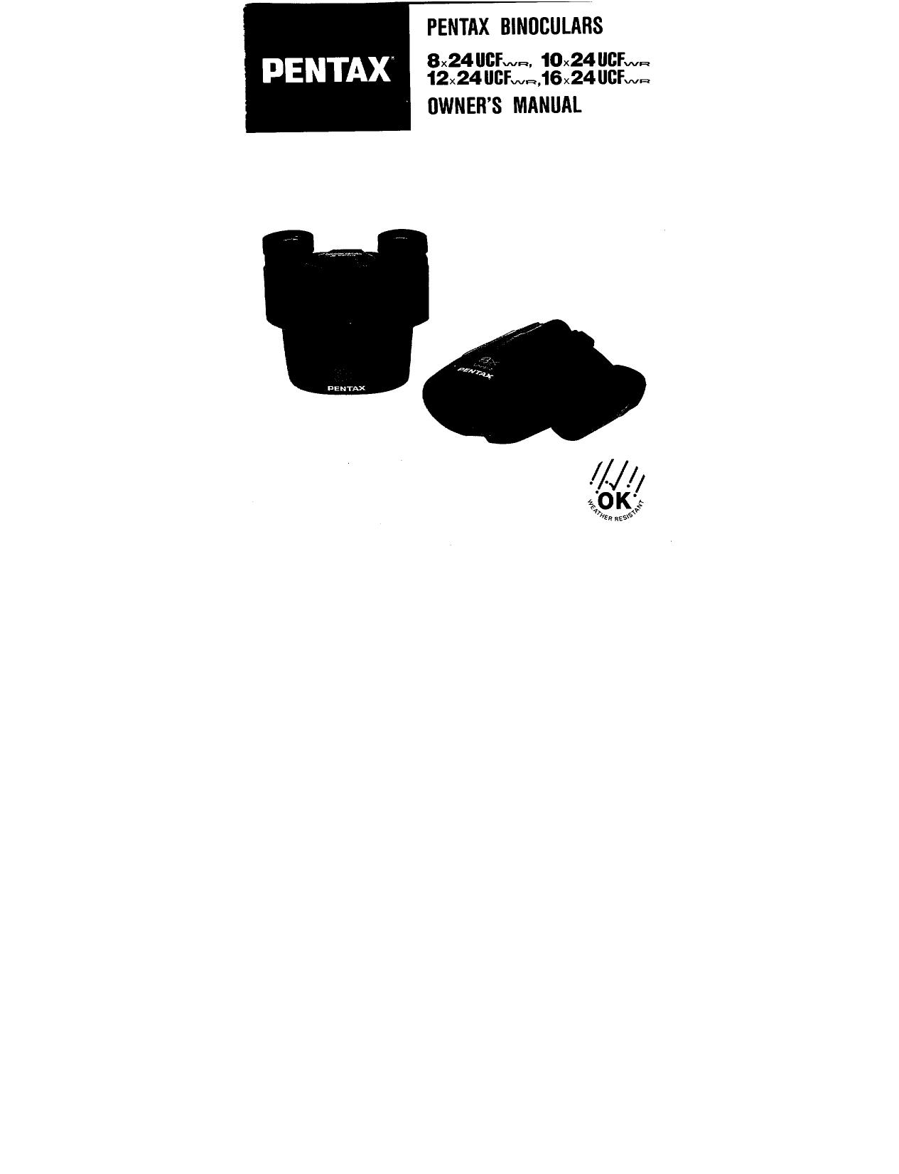 download free pdf for pentax ucf 10x24 binocular manual rh umlib com Pentax Apparel Pentax 20X60