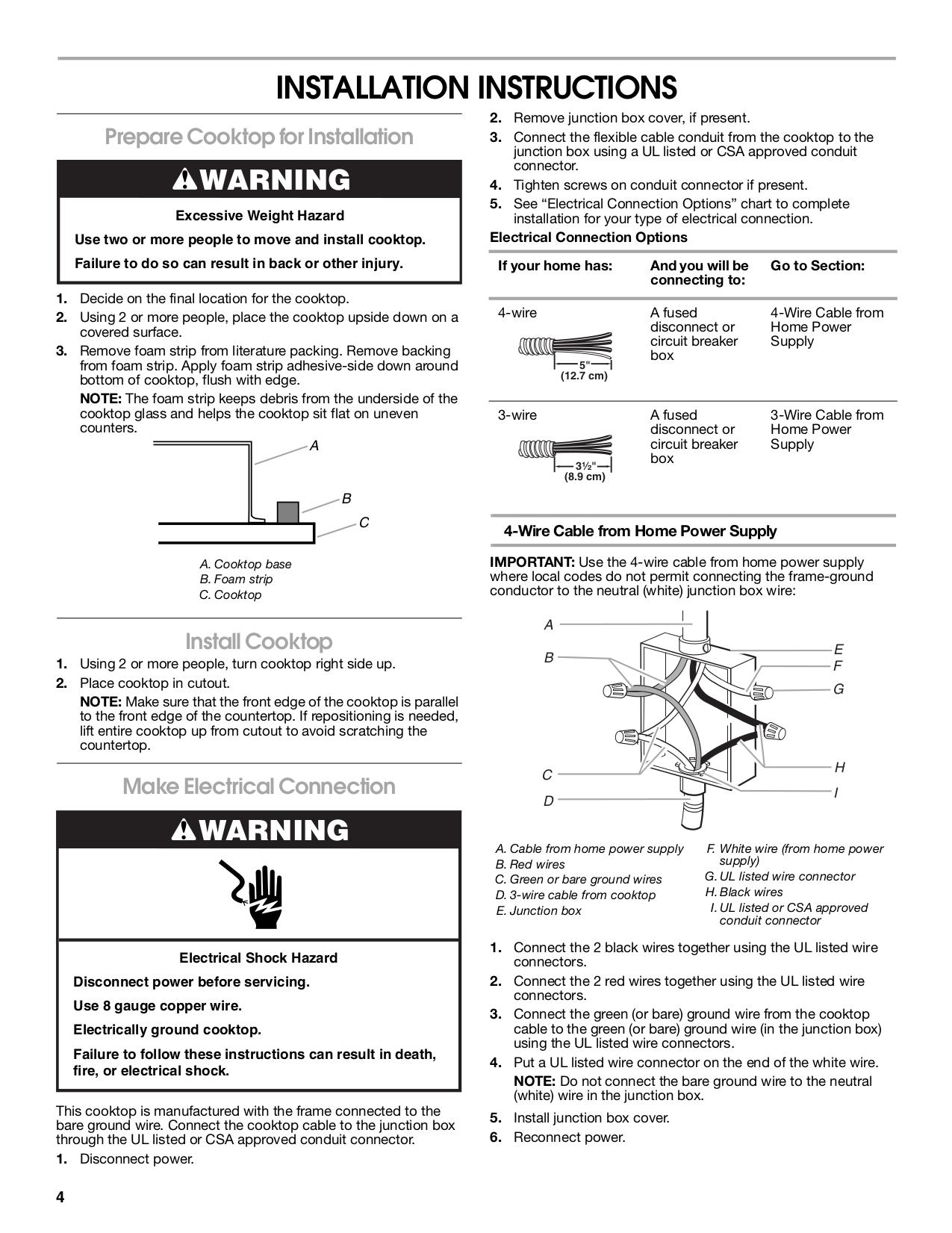 PDF manual for Maytag Range MEC7430WS