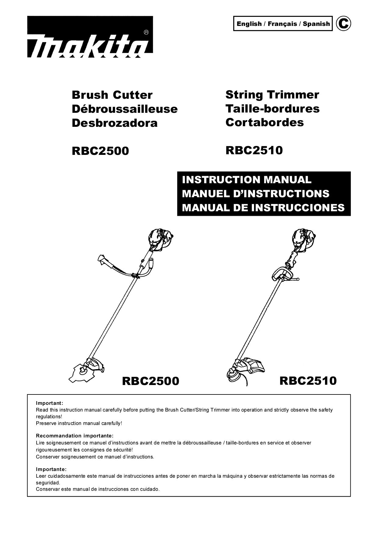 download free pdf for makita rbc2510 string trimmer other manual rh umlib com makita owners manual for miter saw ls1214fl makita owners manual for miter saw ls1214fl