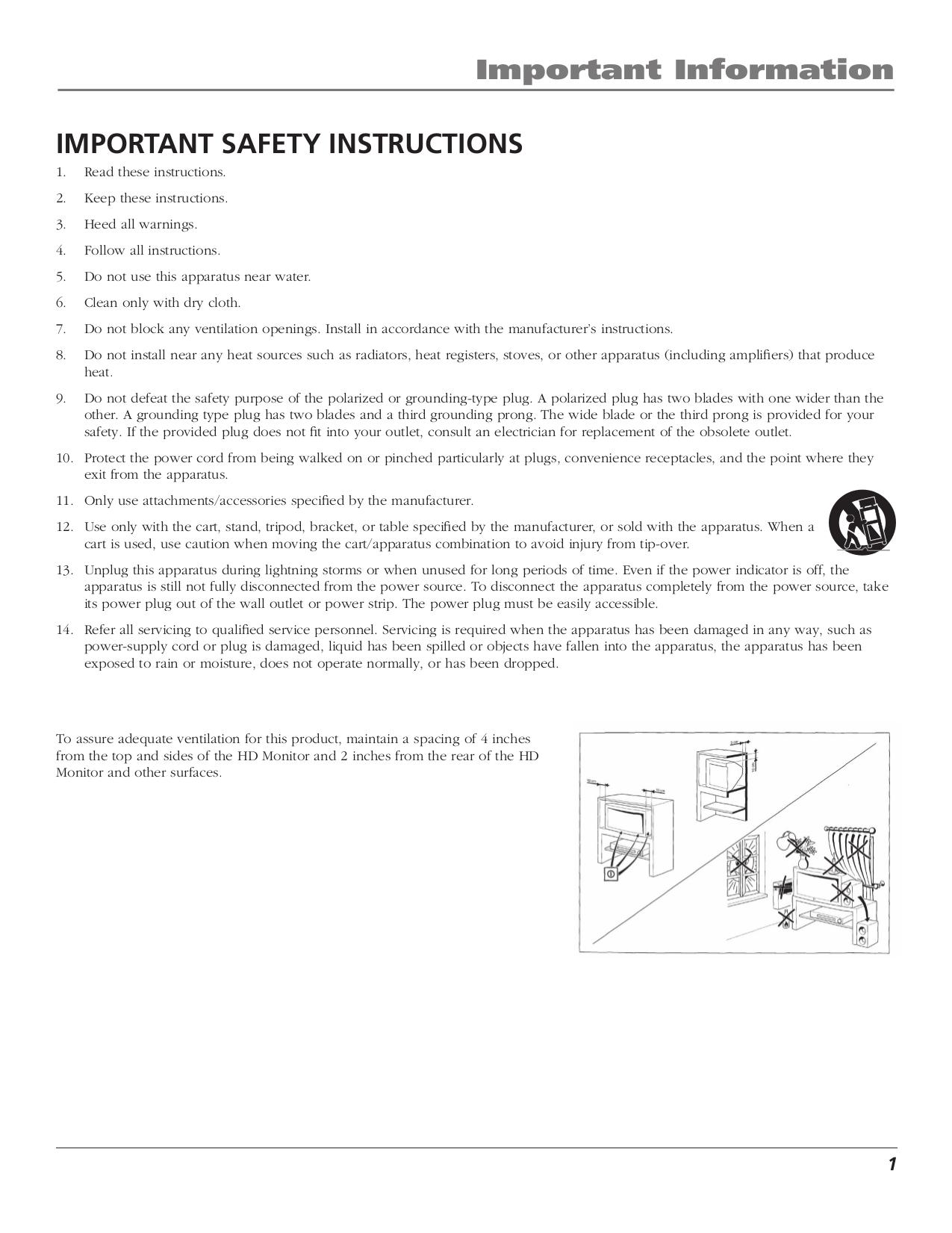 PDF manual for RCA TV D52W23