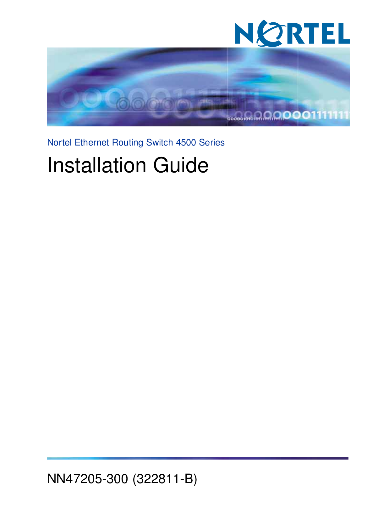 pdf for Nortel Switch 4526T-PWR manual