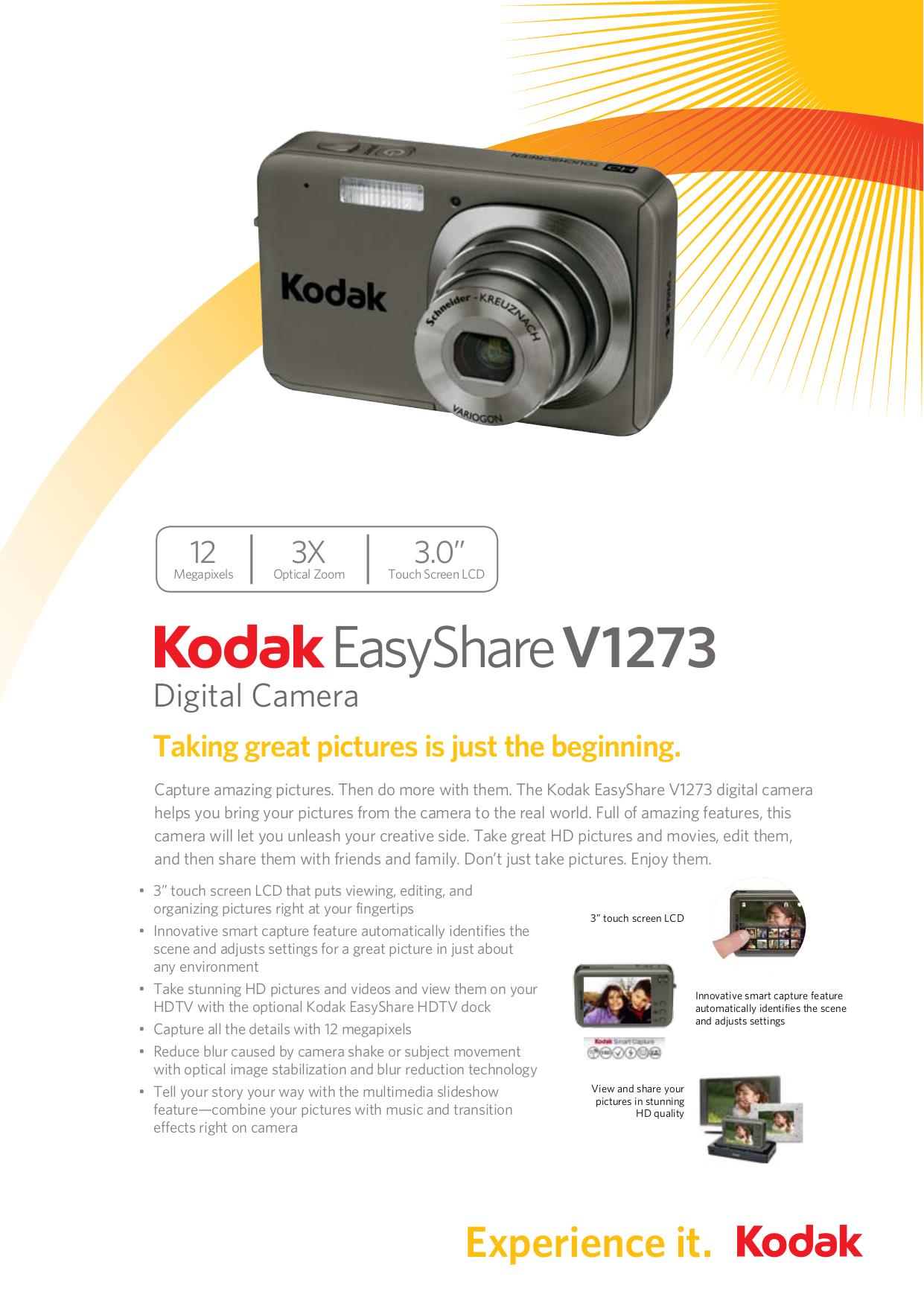 download free pdf for kodak easyshare v1273 digital camera manual rh umlib com Kodak EasyShare Printer Owner's Manual Kodak EasyShare