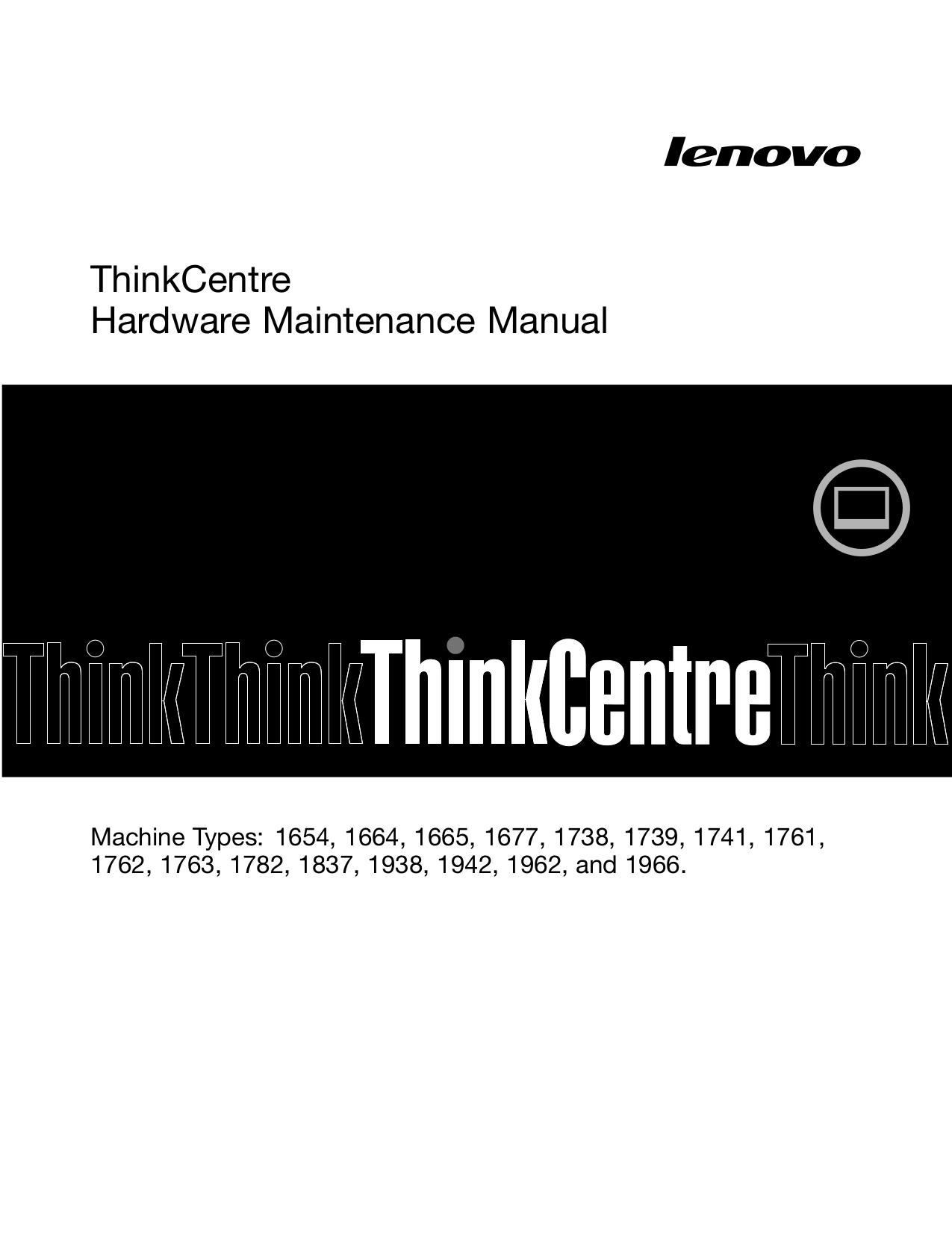 Lenovo Desktop ThinkCentre M71z 1677 pdf page preview