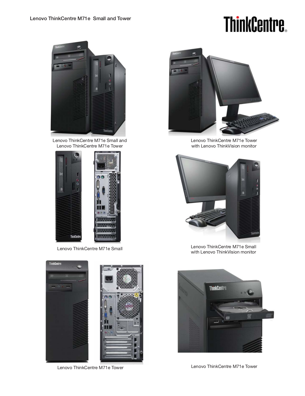 Lenovo Desktop ThinkCentre M71z 1677 pdf page preview