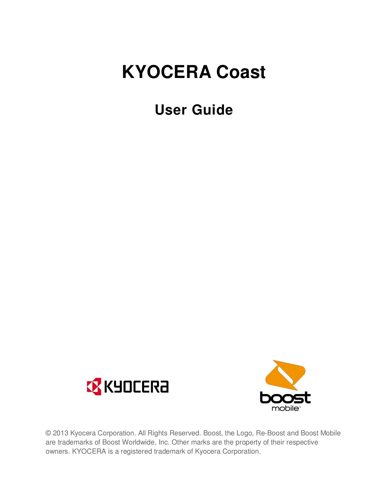 pdf for Kyocera Cell Phone Loft manual