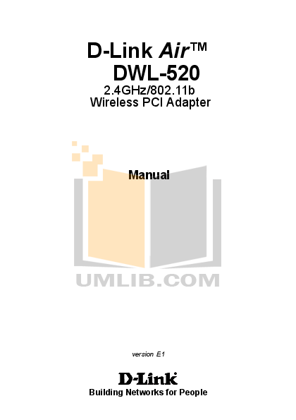 pdf for D-link Other DWL-AB520 manual