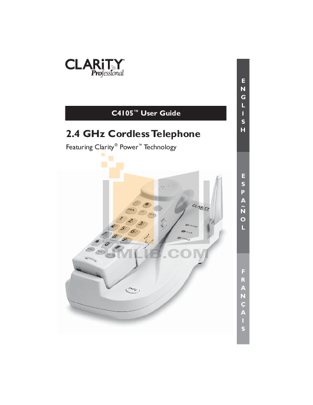 pdf for Clarity Telephone C4105 manual
